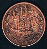 Medallion-1983-Lyell-District-Cenenary-51mm-Antique-Copper-Obverse